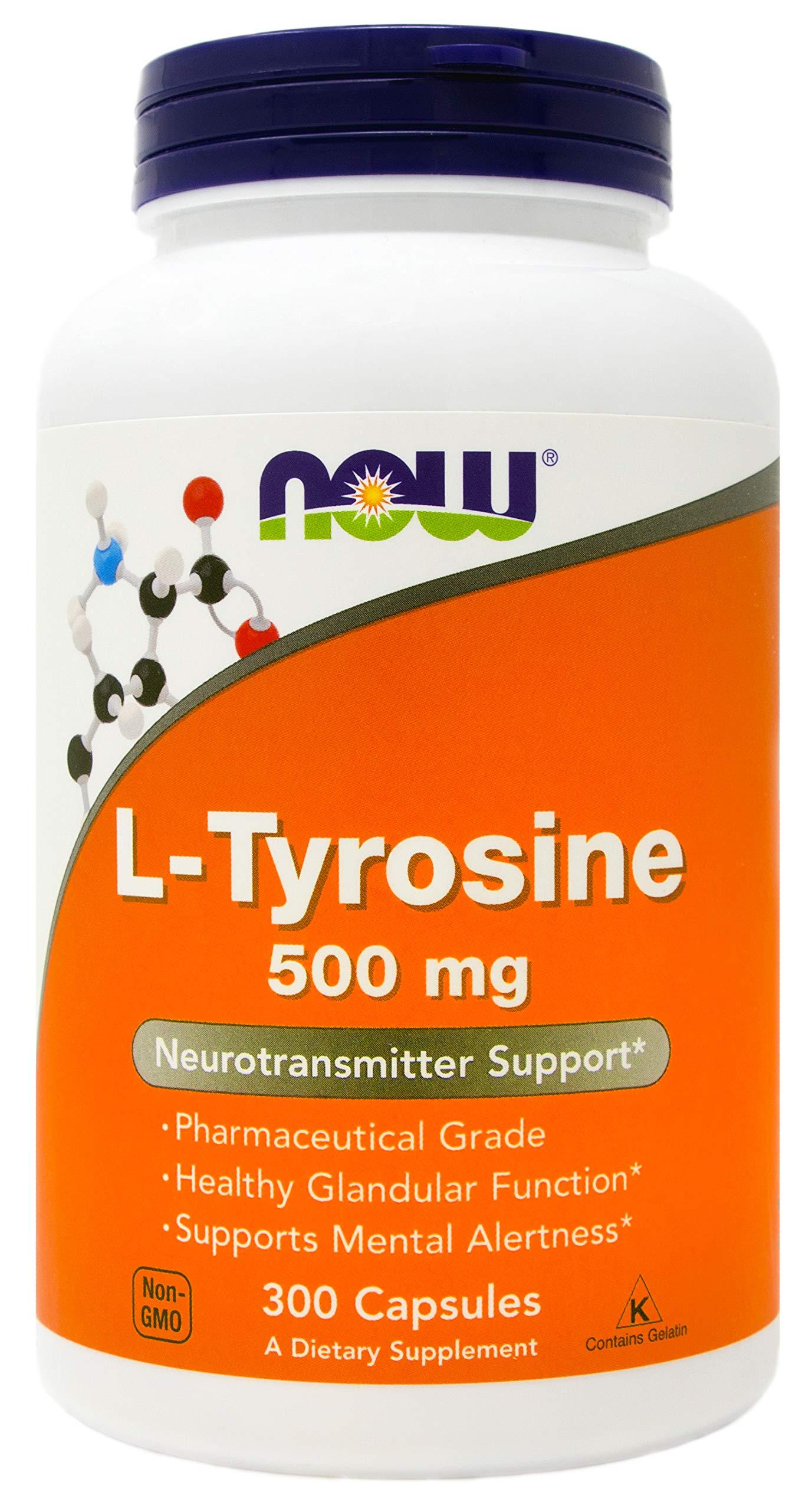 Now L-Tyrosine 500mg, 300 Capsules