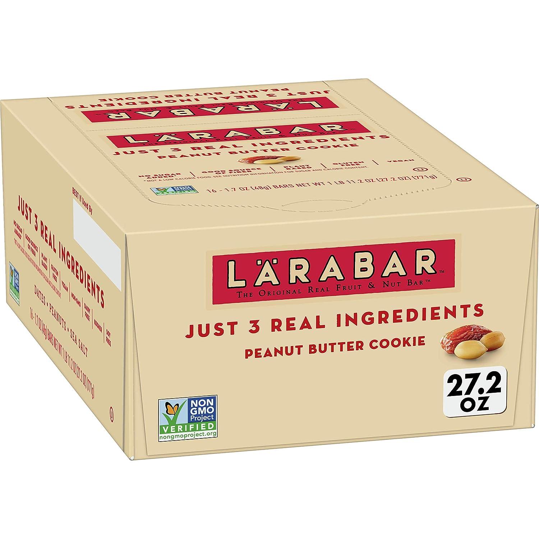 Larabar Gluten Free Bar, Peanut Butter Cookie, Dairy Free, 16 ct, 27.2 oz