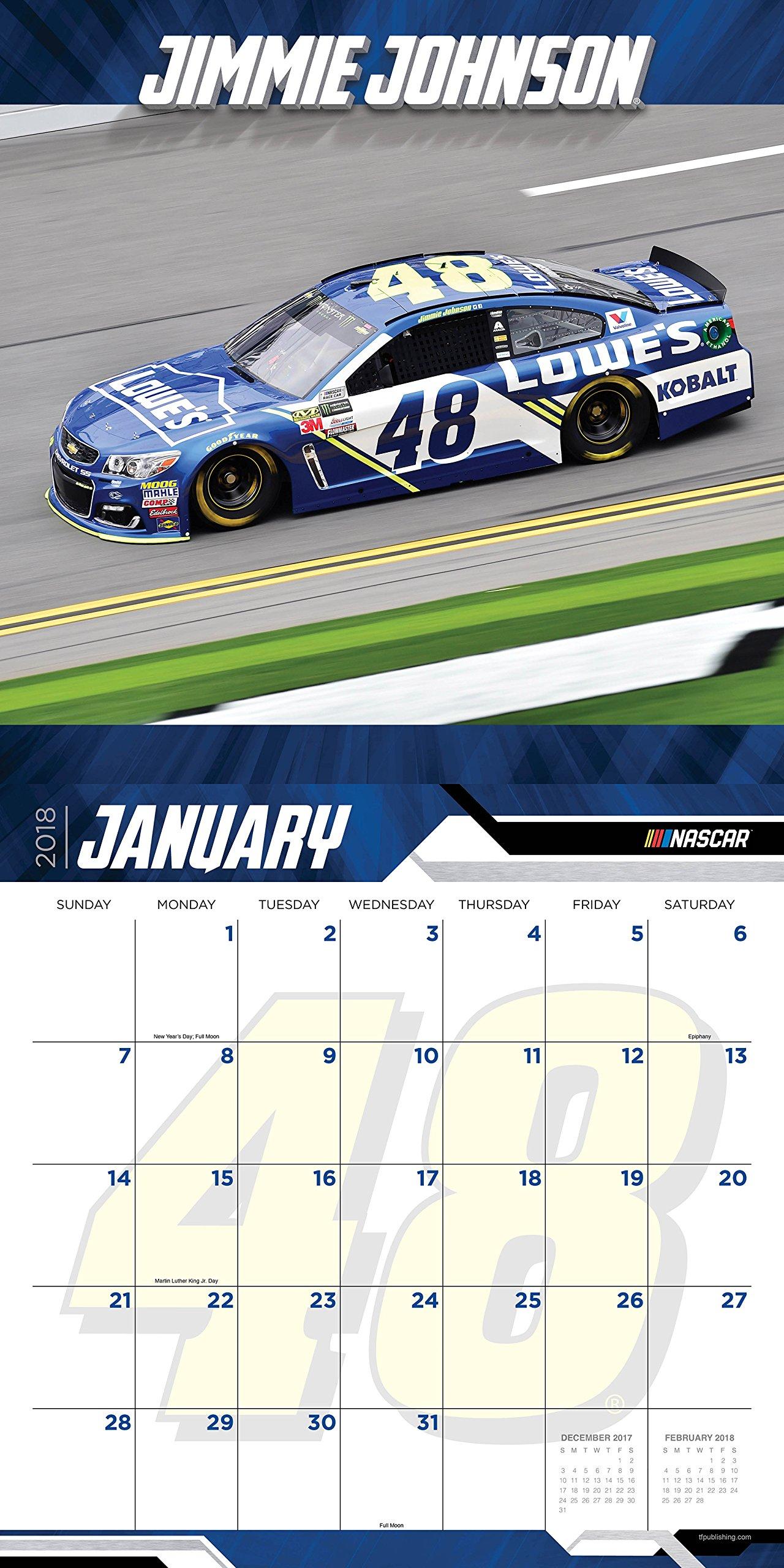 2018 Jimmie Johnson Wall Calendar: Jimmie Johnson: 9781683750833:  Amazon.com: Books