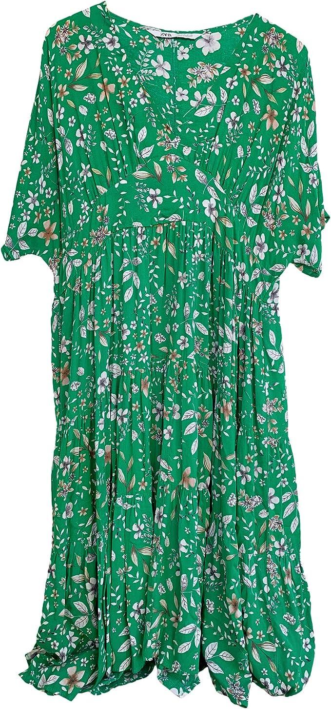 Zara 2587/151 Vestido Midi Estampado Floral para Mujer ...