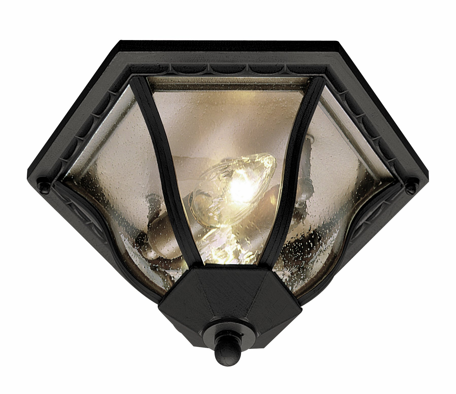 Trans Globe Lighting 4559 BC Outdoor Bostwick 8.5'' Flushmount Lantern, Black Copper by Trans Globe Lighting