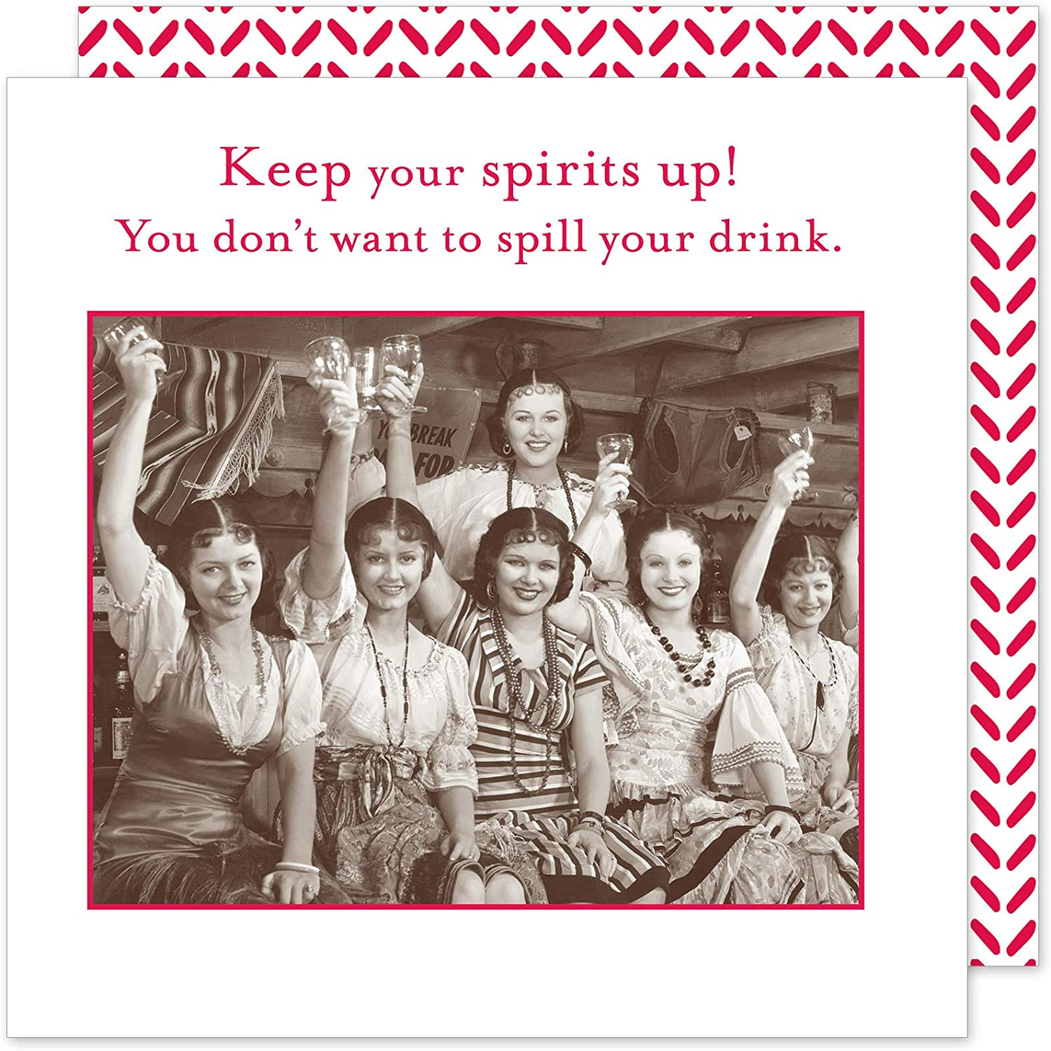 """Bridal Shower Cocktail Napkins Paper Napkins Decorative Disposable Napkins Party Napkins, Happy Hour, Girls Night Out, Keep Your Spirits Up.', 5"""" x 5"""" Pak 40"""