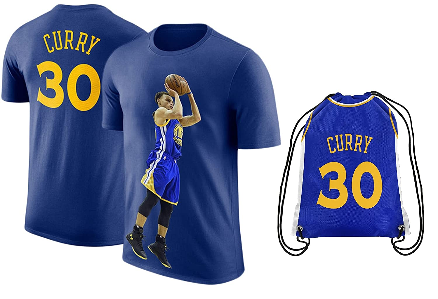 the latest fcbea 9aa5c UNK Steph Curry Blue Basketball T-Shirt Jersey Style Kids Youth Sizes  Premium Quality Gift Set