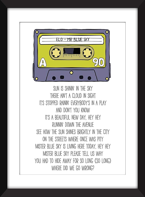 Amazon com: ELO - Mr Blue Sky Lyrics - Unframed Print: Handmade