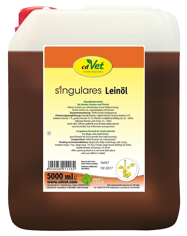 cdVet Naturprodukte Singulares Leinöl 5 Liter