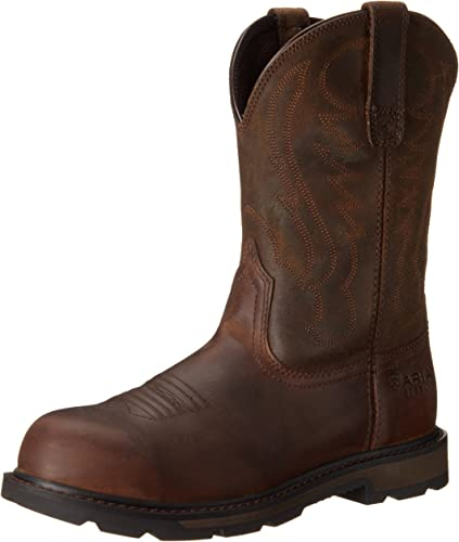 Amazon.com: ARIAT Men's Groundbreaker Pull-on Steel Toe Work Boot: Shoes