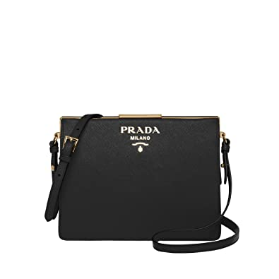 YB Prada, Borsa a spalla donna M, Nero (Nero), M: Amazon.it