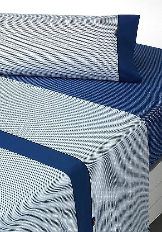 SABANALIA - Juego de sábanas Estampadas Mota (Disponible en Varios tamaños y Colores), Cama 150, Gris: Amazon.es: Hogar
