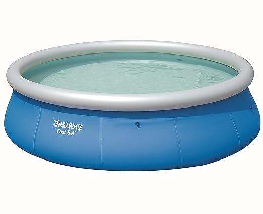 Bestway Fast Set Pool 396 x 84 cm, Hinchable Piscina Sobre ...