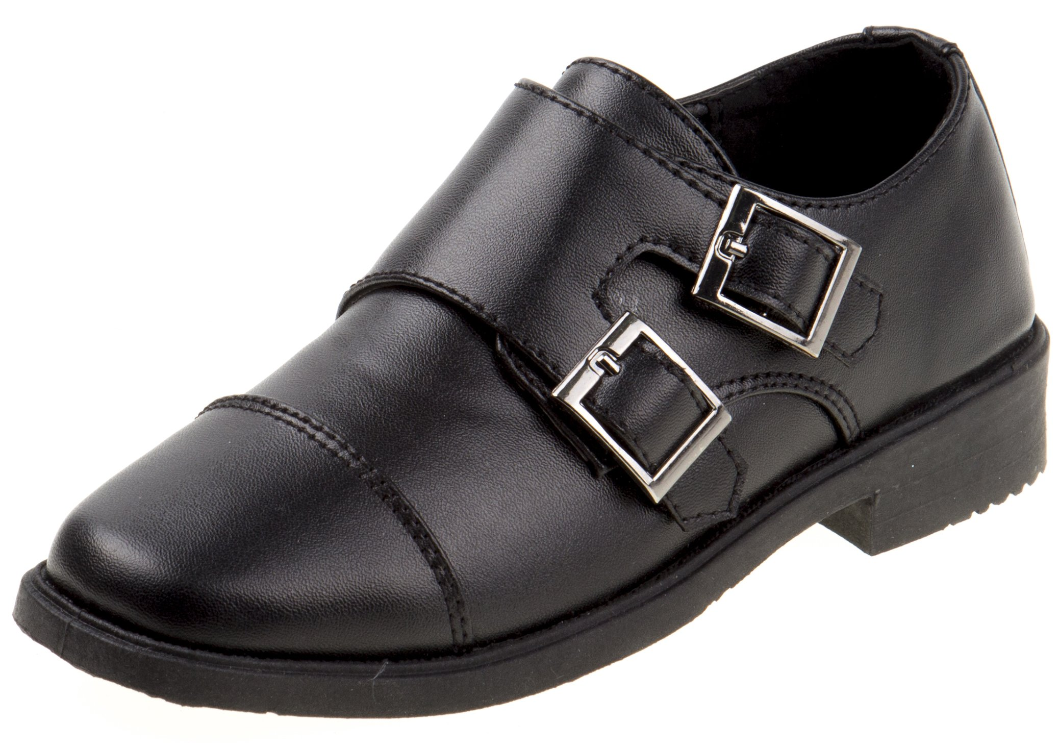 Josmo Boys Easy Strap Oxford Dress Shoe (Toddler/Little Kid/Big Kid), Black, 8 US Toddler'