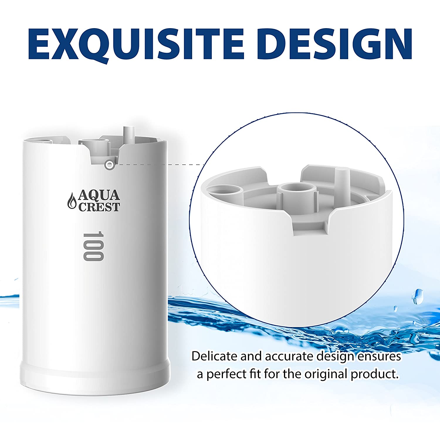 Amazon.com: AQUACREST FMC103X Replacement Faucet Water Filter, Compatible  with DuPont WFFMC103X WFFMC100X Faucet Mount Water Filtration Cartridge, ...
