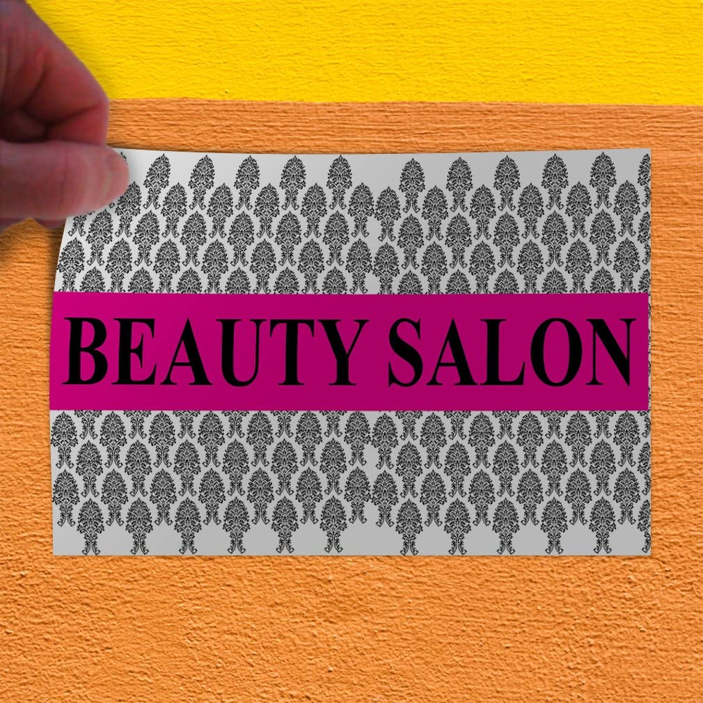 Set of 5 Decal Sticker Multiple Sizes Beauty Salon Grey White Pink Business Parlor Outdoor Store Sign Grey 27inx18in