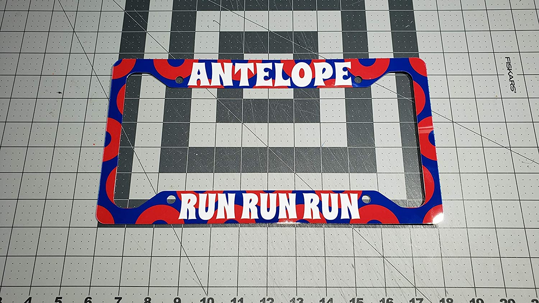 12.25 x 6.5 Aluminum Antelope Run License Plate Frame Ink//Printed Image Gloss UV