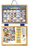 Melissa & Doug Deluxe Wooden Magnetic Calendar With 134 Magnets