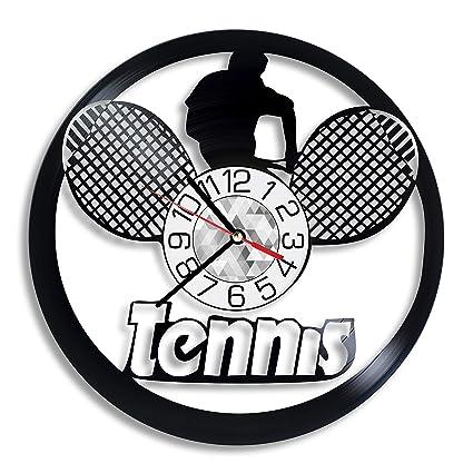 c41067d310070 Amazon.com: Tennis Vinyl Record Clock - Sport Wall Art Room Decor ...