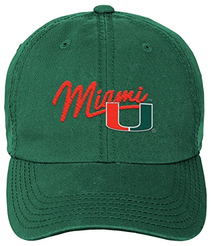 huge selection of d6e43 a627e NCAA Miami Hurricanes Youth Girls Thick Stitch Slouch Hat, 1-Size, Dark  Green