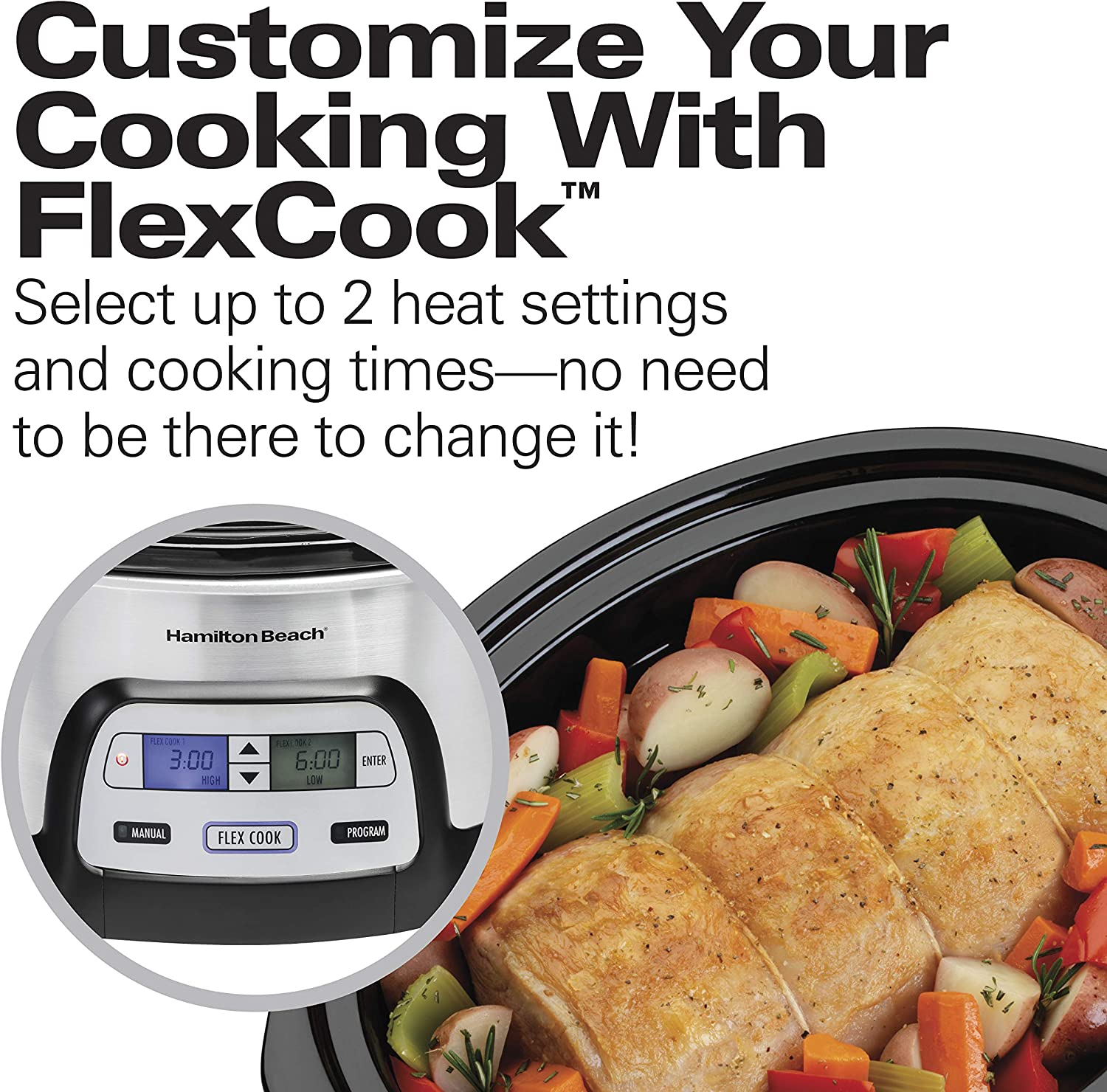 Slow cooker with non stick insert