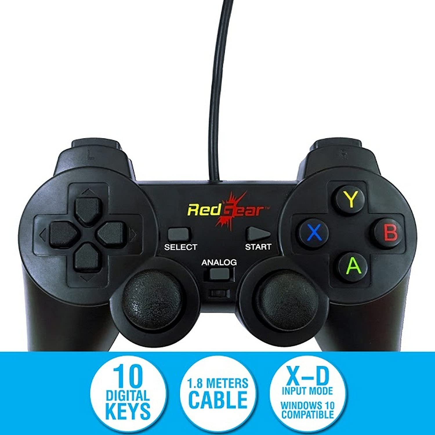 Redgear Smartline Wired Gamepad Plug and Play support for
