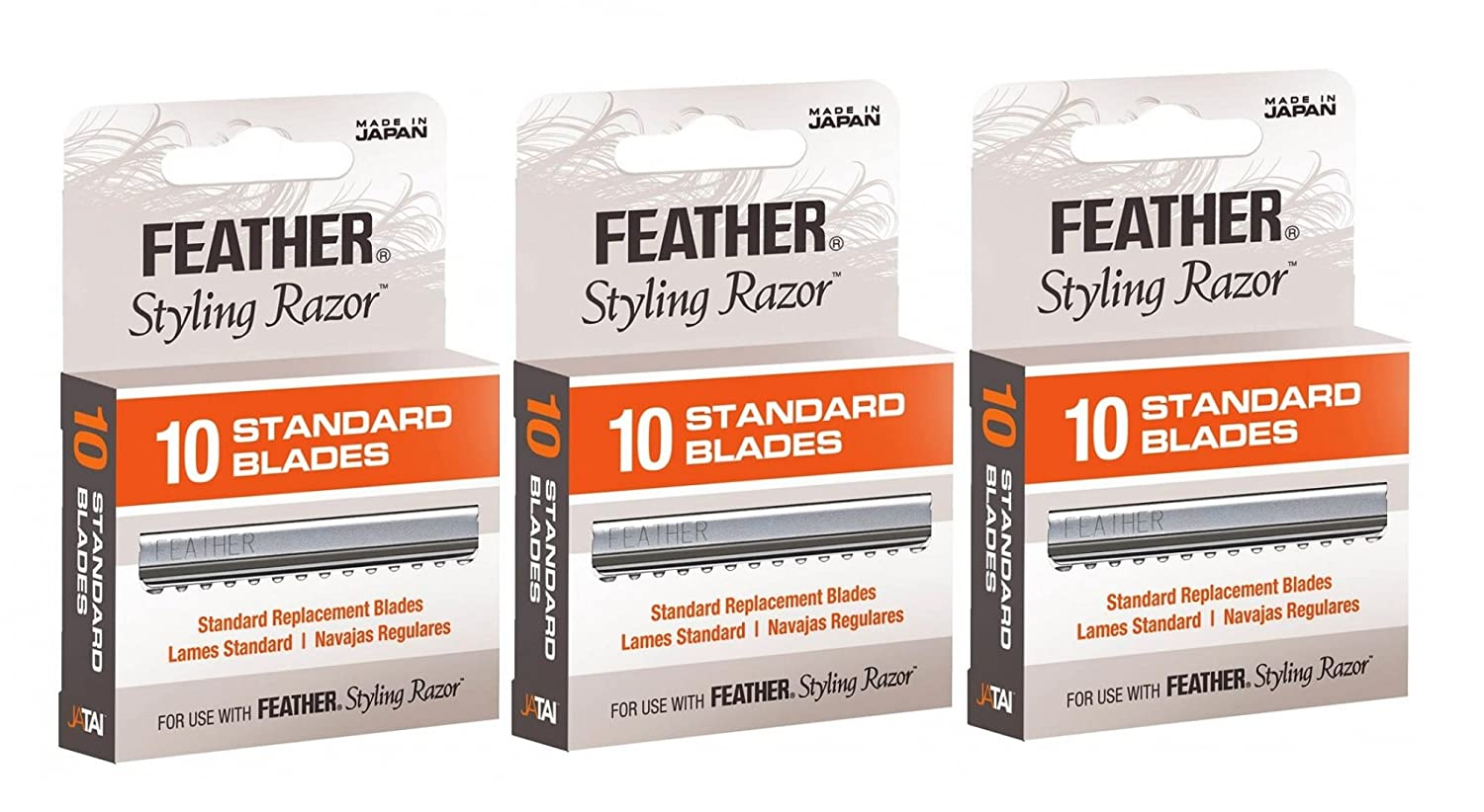 Feather Styling Razor Blades 30 count assorted