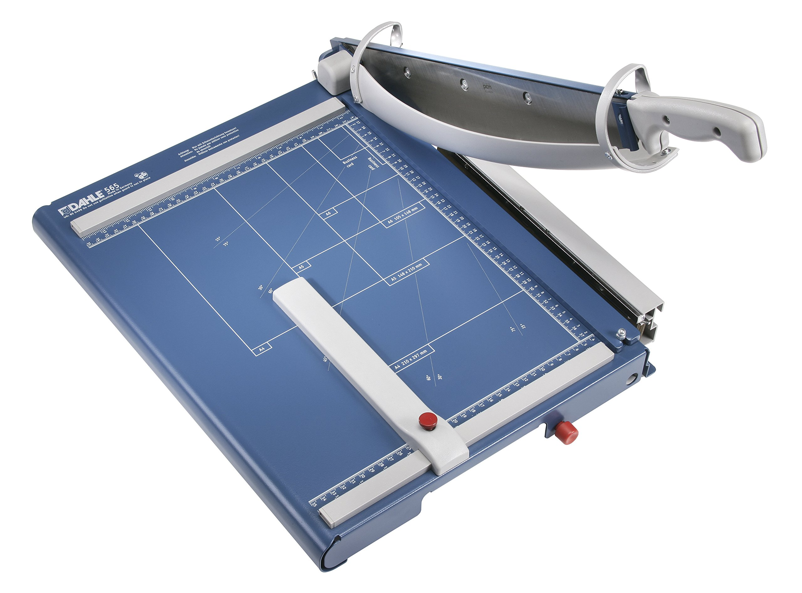 Dahle 565 Premium Guillotine Trimmer, 15-1/8'' Cut Length, 35 Sheet Capacity, Self-Sharpening Blade, Automatic Clamp, w/Safety Guard