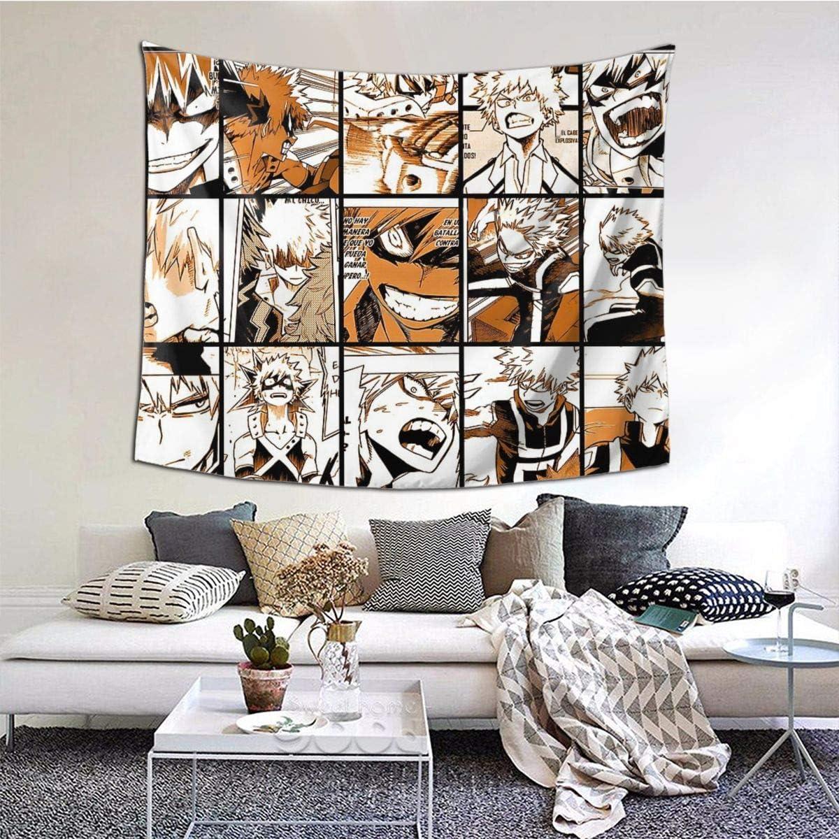 Zilld Bakugo Katsuki Tapestry Wall Hanging Home Decorations for Living Room Bedroom Dorm Decor 60×51 inch