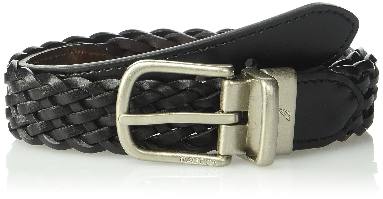 Nautica Boys' Big 1' Wide Reversible Braid Randa Accessories (Leather) Children' s Apparel 12NU04X005