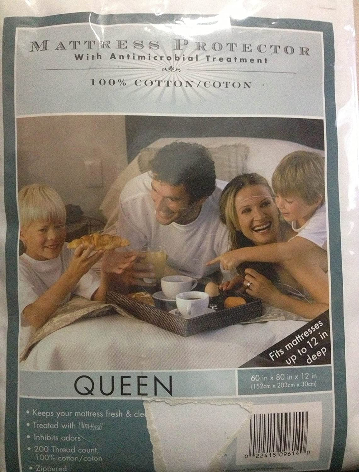 Mattress Protector with Antimicrobial Treatment Queen