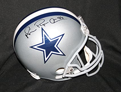 "75815d3d084 Image Unavailable. Image not available for. Color: MICHAEL IRVIN  Signed""PLAYMAKER"" Dallas Cowboys Helmet Autograph/DNA ..."