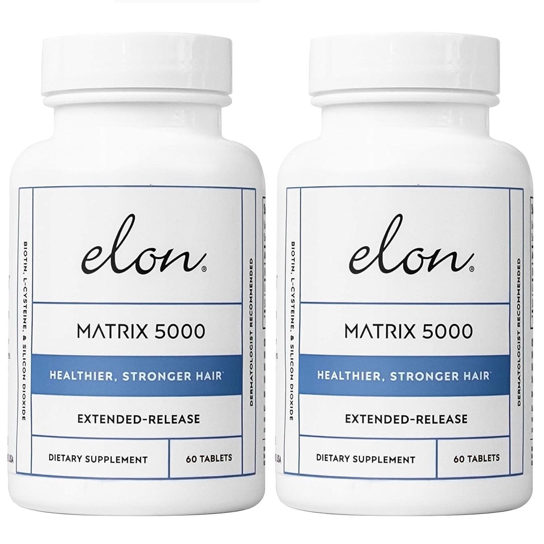 Elon Matrix 5,000 - Vitamin for Hair 60 Tablets 2 Pack