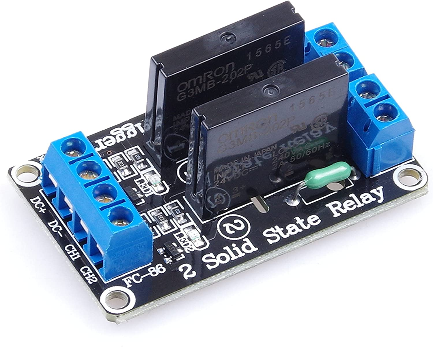 12V 6-Channel Solid State Relay Module Low Level trigger 240V 2A Output
