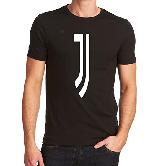 Juventus Italy T-shirt Tee Black Custom Graphic Camiseta Soccer Futbol Europa (S)