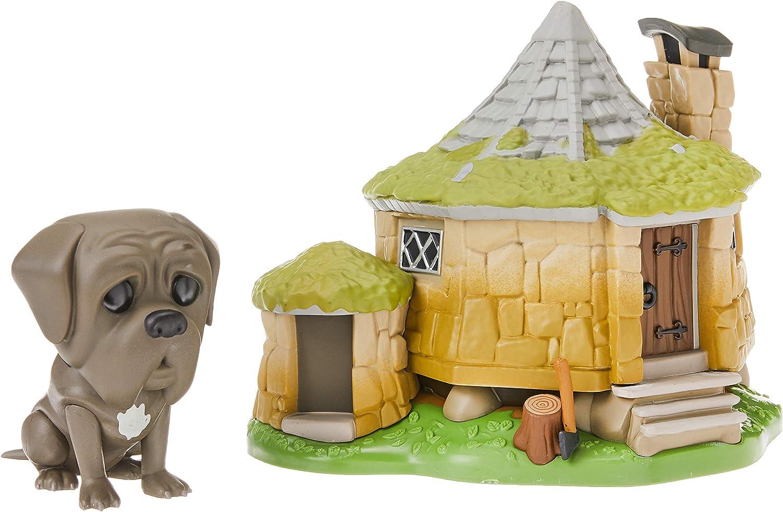 Funko - Pop! Town: Harry Potter - Hagrids Hut w/ Fang Figura Coleccionable, Multicolor (44230)