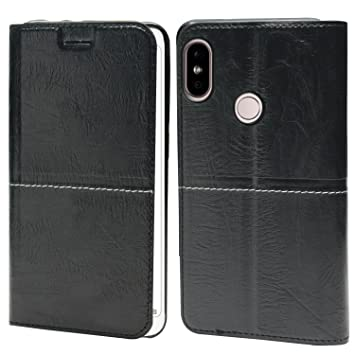 Jkobi Leather Wallet Flip Case Cover for Xiaomi Mi Redmi Note 5 Pro  Black Mobile Phone Cases   Covers