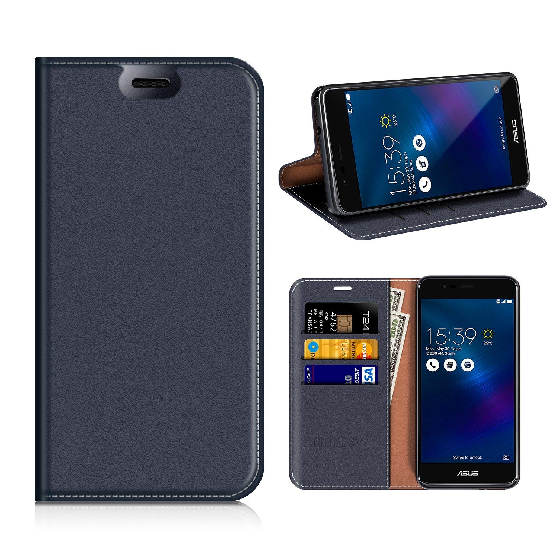 MOBESV Funda Cartera ASUS Zenfone 3 MAX, Funda Cuero Movil ASUS Zenfone 3 MAX Carcasa Case con Billetera/Soporte para ASUS Zenfone 3 MAX ZC520TL - ...