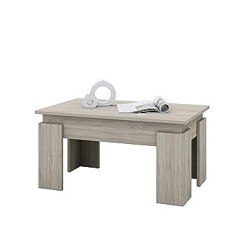 Aisen Ai 00080 Couchtisch Holzwerkstoff Sonoma Eiche Dekor 50 X