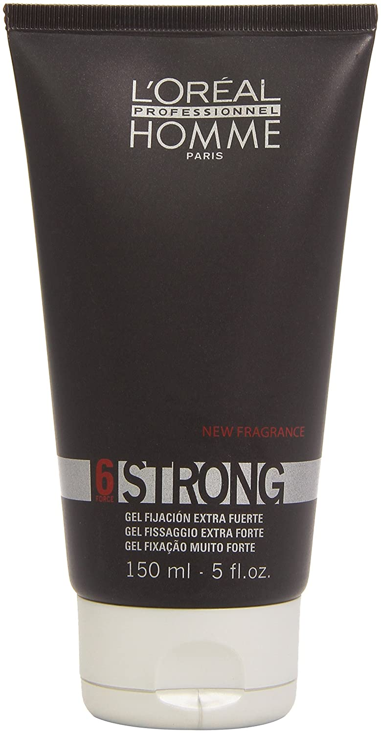 L'Oreal Homme Strong Force 6 Strong Hold Gel Professional for Unisex-5-Ounce L'Oreal 99134B 42471