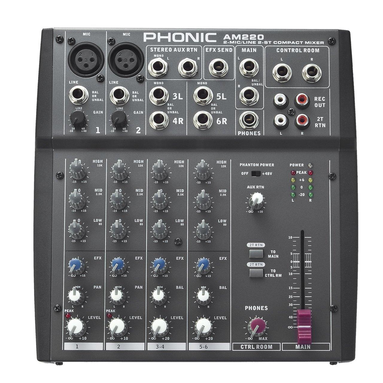 Phonic Mixer - Unpowered (AM220)