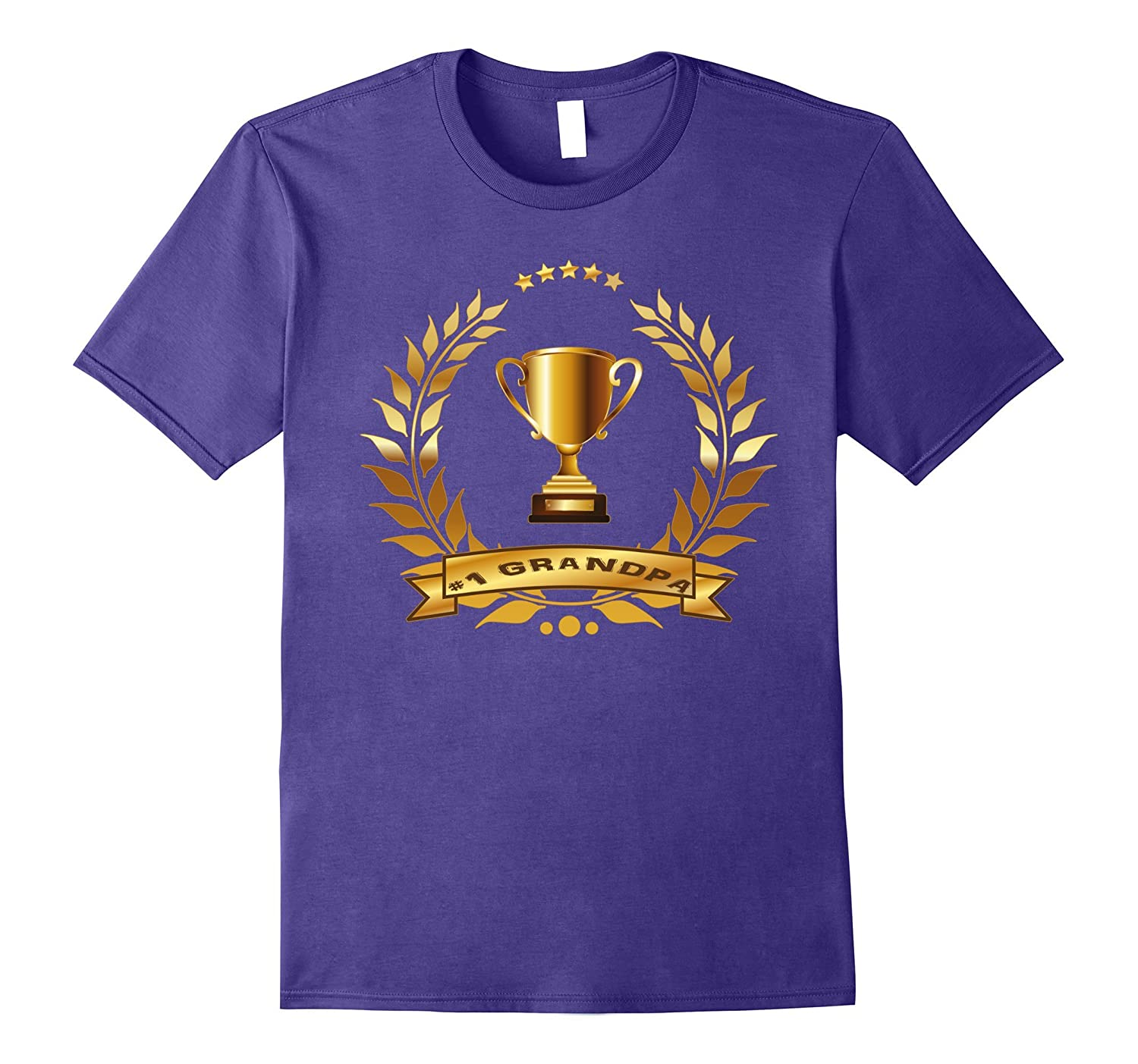 #1 Grandpa T-Shirt With Trophy- Gift For Grandpa