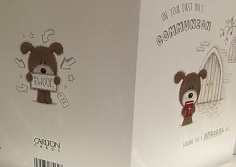 Amazon.com: En su primera Comunión tarjeta de felicitación ...