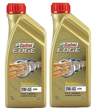 Castrol Edge Titanio 0W-40 A3/B4 FST Aceite sintético para Motor, 2 litros: Amazon.es: Coche y moto