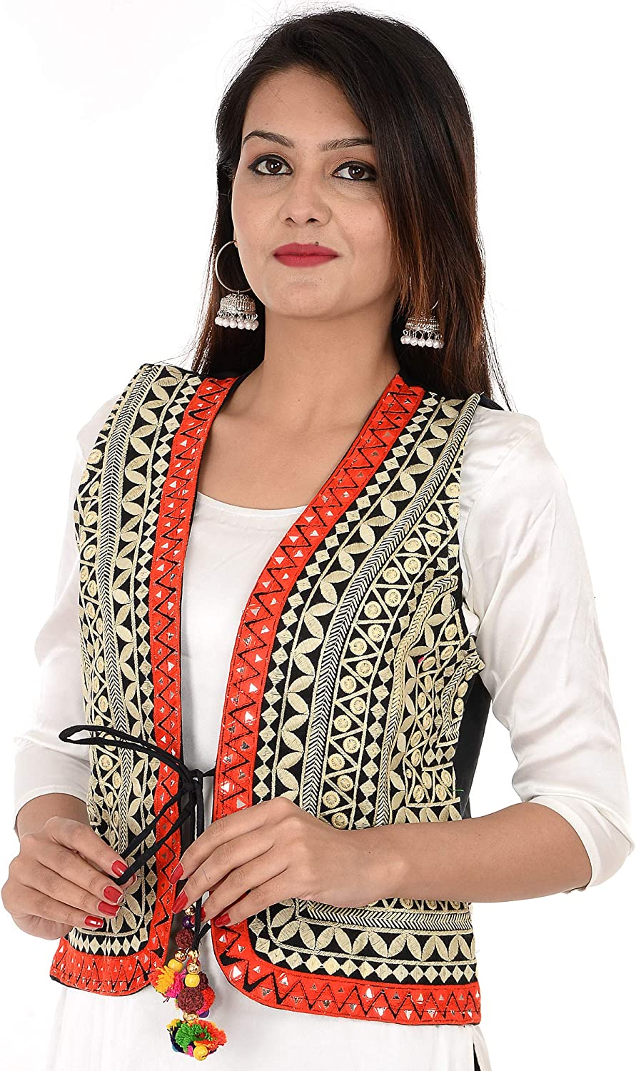 Craft Trade Embroidered Kutchi Jacket Cotton Traditional Long Choli Indian Wear for Womens//Girls
