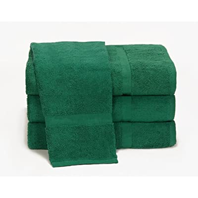 "Towels by Doctor Joe Ambassador Hunter Green 16"" x 28"" Lint-Free Car Wash and Detailing Towel, Pack of 12: Automotive"