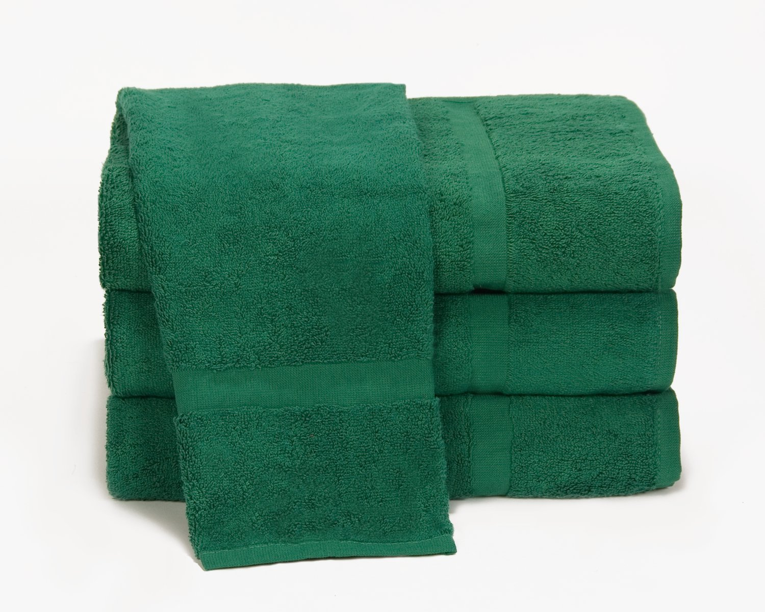 Towels by Doctor Joe Ambassador Hunter Green 16'' x 28'' Lint-Free Car Wash and Detailing Towel, Pack of 12