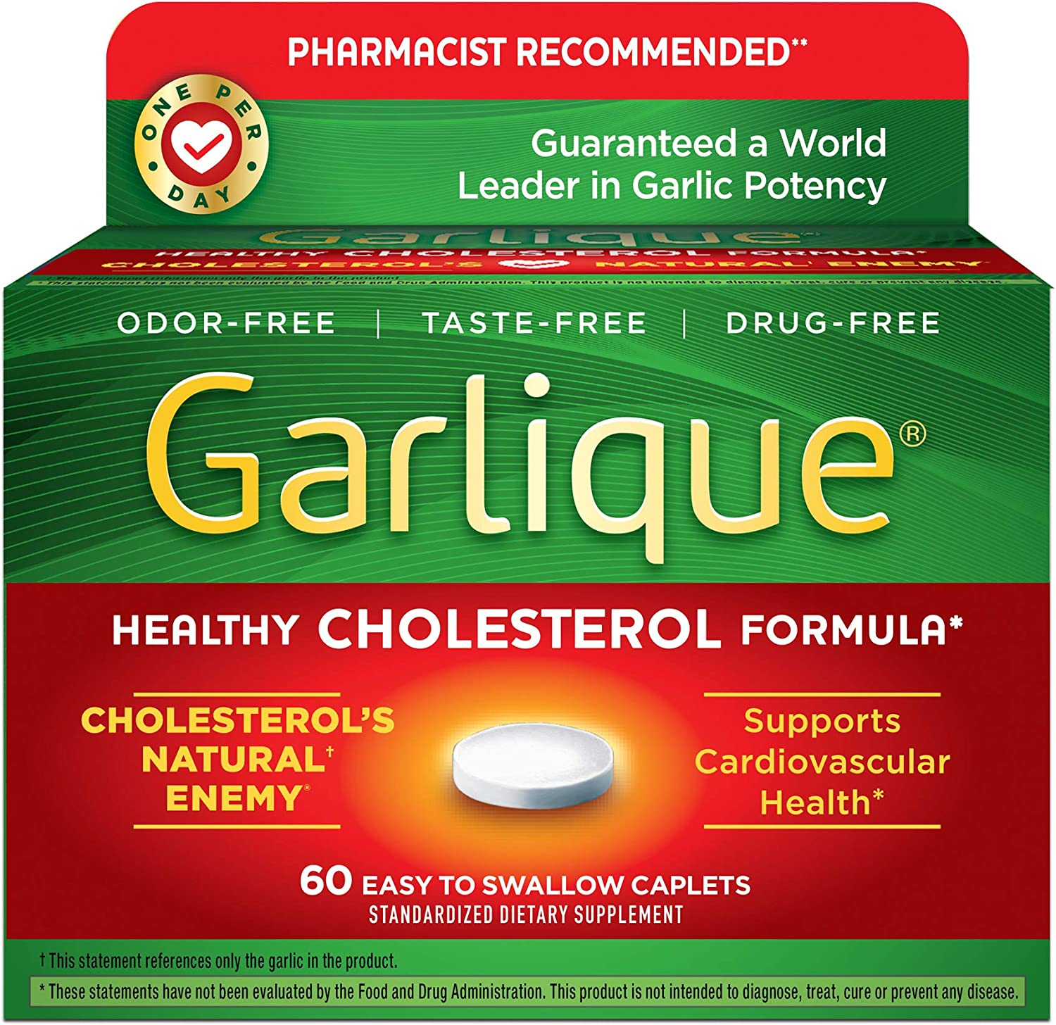 Garlique Dietary Supplement, 60 Caplets: Health & Personal Care