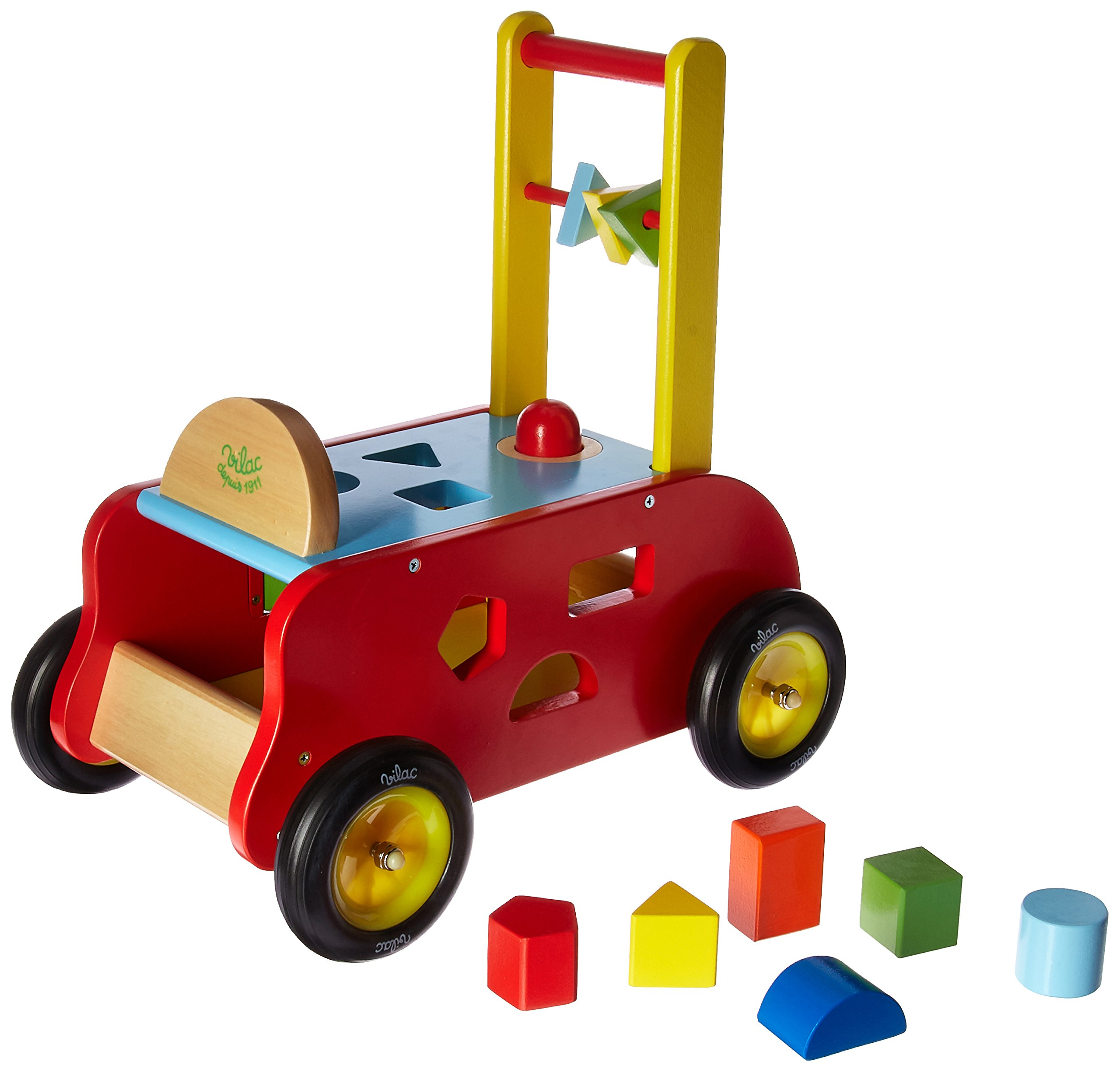 Vilac Multi Activity Cart Touch and Feel Toy