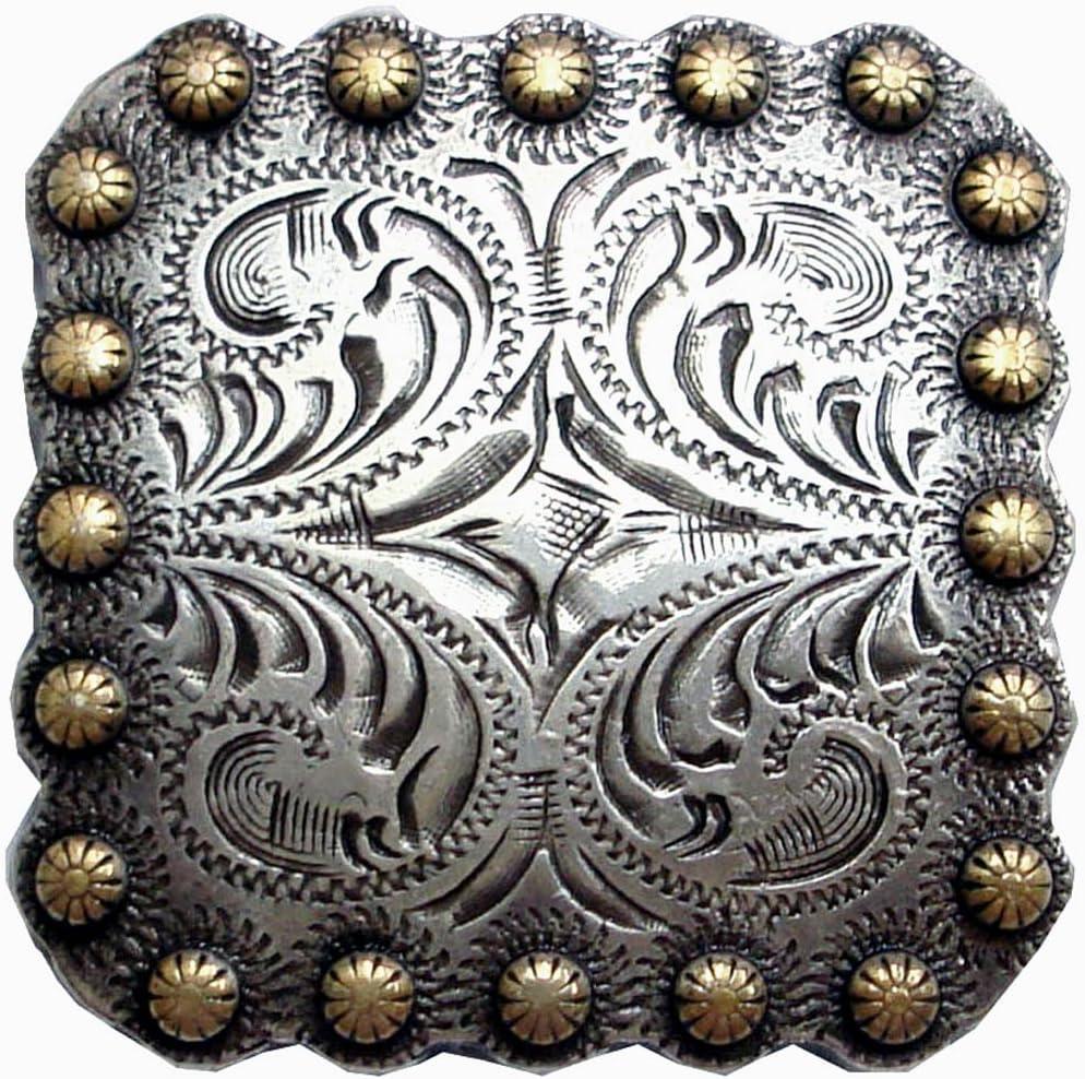 "Diablo Oval Concho 1-1//2/"" 2.5 cm 38 mm Tandy Leather 7414-05 x1/"""