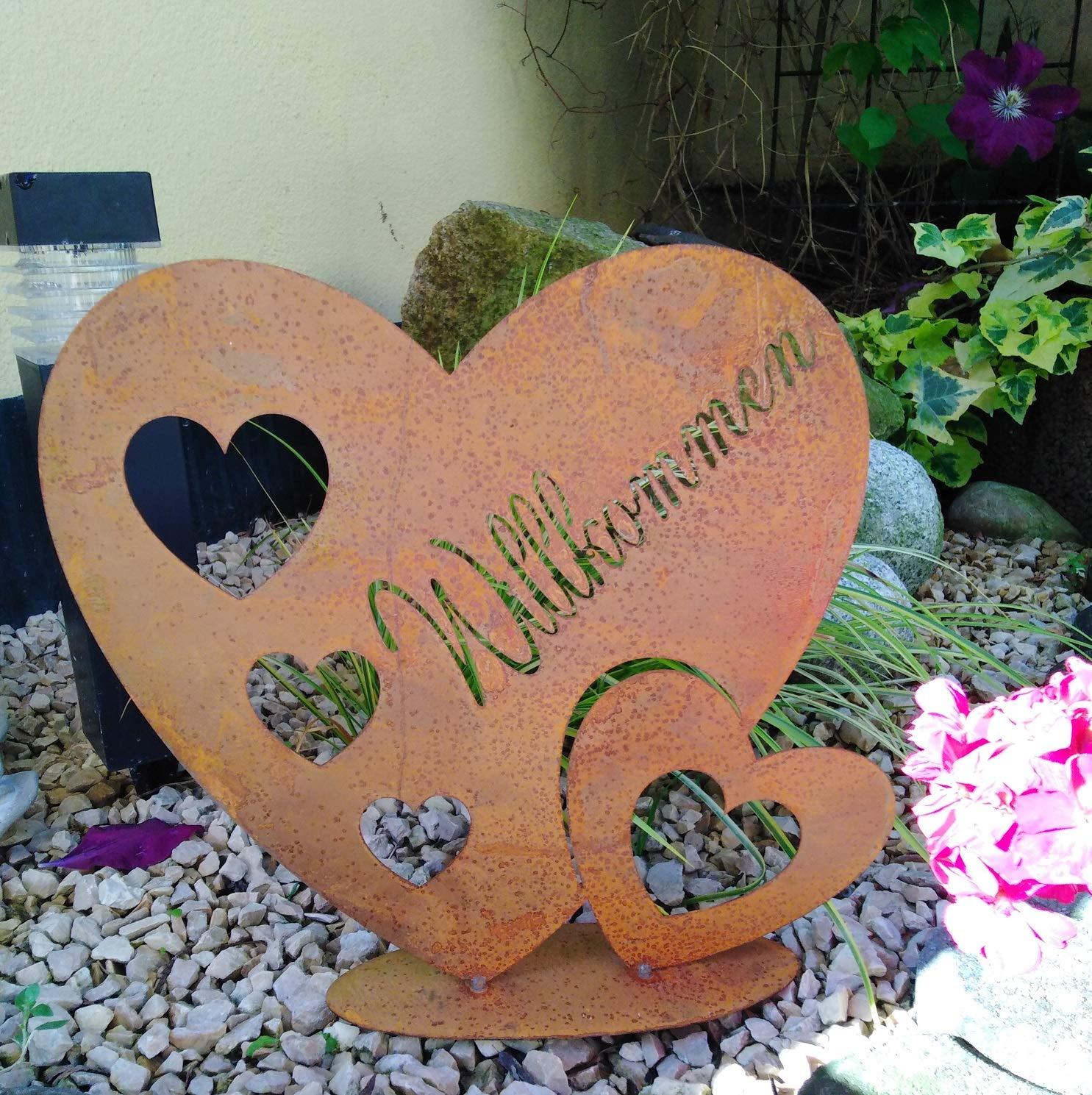 Herz zum Bepflanzen ausEdelrost 26cm Pflanztopf Gartendeko Garten DekoTopf