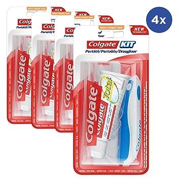 Conjunto de 4 Kits de viaje Pasta de dientes Colagte + cepillo de ...