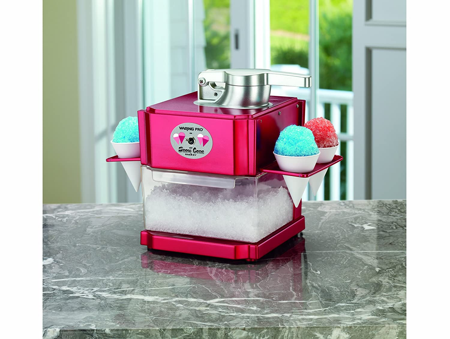 amazoncom waring pro scm100 snow cone maker shaved ice machines kitchen u0026 dining - Snow Cone Machine For Sale