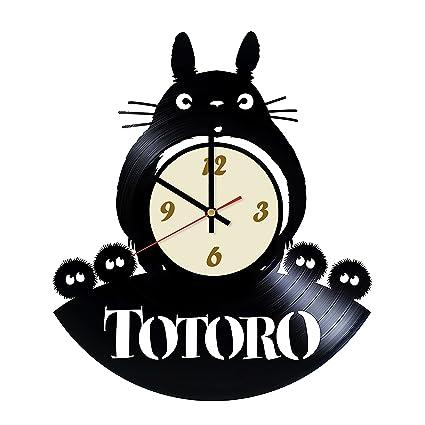Amazon.com  La Bella Casa Totoro Studio Ghibli Atrt Vinyl Wall Clock ... 511fc47eaf